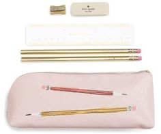 Kate Spade New York Sketch Pencil Case - Pink - Writing Supplies - Journal Supplies - Planner Supplies - #affiliatelink