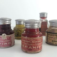 Winsor & Newtons Oil Colour for Stencil Work.  For the next 5 weeks on…