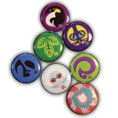 Team Starkid Holy Musical B@man villain buttons.  7 Villains, One Set