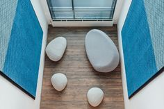 Baux acoustic tiles and panels in the new KPMG office atrium. Learn more at http://www.relaydesignagency.co.uk/baux/