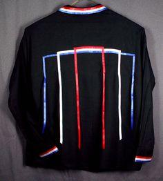 Native American Regalia *Nakoda Made* Traditional RICH BLACK Pow Wow Ribbon Shirt© 6cYtV