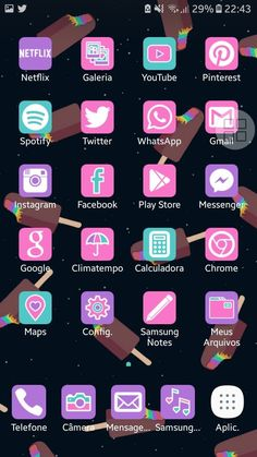 Folder Organization, Phone Organization, Apps Kawaii, Simple Phone Wallpapers, Apps Android, Organize Phone Apps, Cute App, Iphone Icon, Hello Kitty Themes