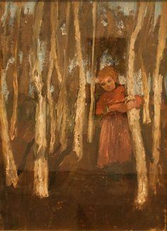 Paula Modersohn-Becker - German Expressionism - Girl in a Birch Forest