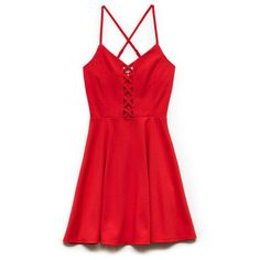 Forever 21 Edgy Girl Fit & Flare Dress (80 BRL) ❤ liked on Polyvore featuring dresses, vestidos, forever 21 dresses, sweetheart dress, red cut out dress, sweet heart dress and cut out dress