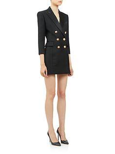 Balmain - Double-Breasted Tuxedo Dress