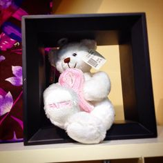 Support #BreastCancerAwareness with this #gift #teddybear in store now #yyj #viha