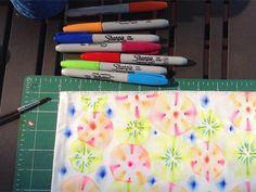 utilizzare sharpies per progettare tessuto