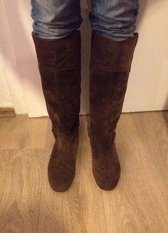 Kaufe meinen Artikel bei #Kleiderkreisel http://www.kleiderkreisel.de/damenschuhe/stiefel/114486502-overknee-stiefel-braun-gr-39-hipster-blogger-boho-klassisch-cowboy-hippie
