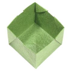 How to make an origami open cube II (www.origami-make. Origami Cube, Origami Models, How To Make Origami, Oragami, Origami Instructions, General Crafts, Decorative Boxes, Paper Crafts, Cubes