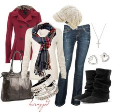 warm and cozy for winter.. I'm a huge fan of these hats!  Love the boots, wish I was tall enough to wear them. :) Super cute outift.