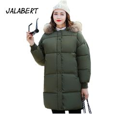 >> Click to Buy << JALABERT 2017 new winter coat in the long section the large size women's fat bread clothing thick collar coat down jacket #Affiliate