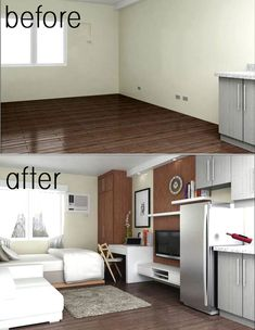 good interior designing for a 24 sqm apartment | Small ...