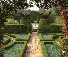 Hidcote, the home of the late Lawrence Johnston and the first garden acquired by the National Trust.