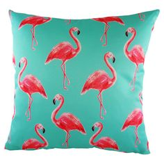 Add a pop of colour to your bedspread or living room sofa with this pastel-hued cushion, featuring a flamingo motif. Product: C...