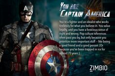 I took Zimbio's 'Avengers' quiz and I'm Captain America! :D (And might I add that this is very accurate for me personally) Who are you?