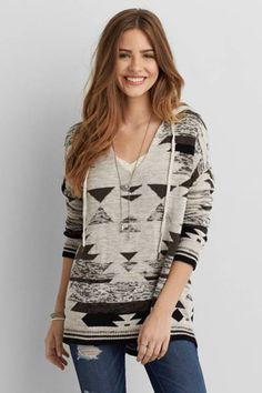 AEO Baja Sweater  by AEO | Go for some major pattern play