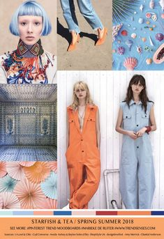 TRENDSENSES MOODBOARD – STARFISH & TEA – SPRING/SUMMER 2018