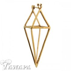 Tawapa Gold Plated Diamond Cube Earrings