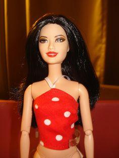 SALE  Barbie Doll Separates  Red & white by KelleysKreationsLV