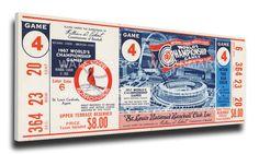 1967 World Series Game 4 Canvas Mega Ticket - St Louis Cardinals