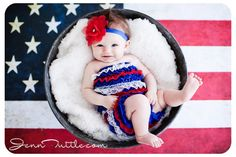 3 month baby flag background bucket prop