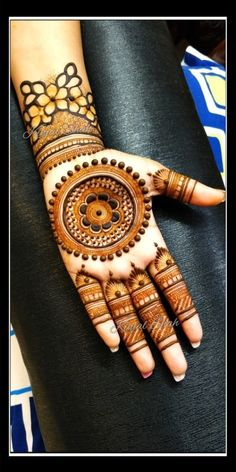 For mehndi order bookings and classes contact Round Mehndi Design, Arabic Bridal Mehndi Designs, Mehandi Design For Hand, Wedding Henna Designs, Palm Mehndi Design, Indian Mehndi Designs, Stylish Mehndi Designs, Mehndi Designs For Fingers, Mehndi Design Pictures