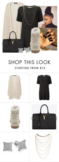 """""""dont get it twisted."""" by miss-hollyhood ❤ liked on Polyvore featuring Violeta by Mango, T By Alexander Wang, UGG Australia, Yves Saint Laurent and Wet Seal"""