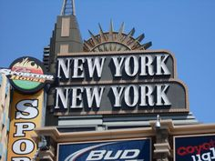 We braved the famous, looping roller coaster in the New York New York hotel