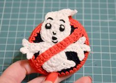 Krawka: Who you gonna call?... Ghostbusters crochet pin - Free pattern for a geek pin by Krawka