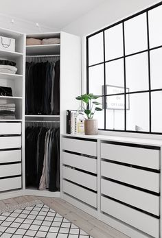 66 Super Ideas For House Decor Ikea Closet System Walk In Closet Ikea, Walk In Closet Design, Closet Designs, Master Closet, Closet Bedroom, Home Bedroom, Corner Closet, Closet Wall, White Closet