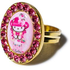Tarina Tarantino Crystal Framed Gothic Lolita Head Ring ($31) ❤ liked on Polyvore