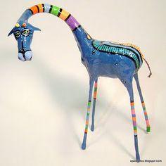 papier mache giraffe