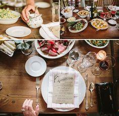 Family-Style Farm-to-Fork Wedding Dinner