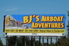 On I-75 Airboat Rides, Billboard, Broadway Shows, Florida, Adventure, Broadway Plays, Poster Wall, Signage, Poster