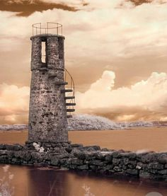 Abandoned lighthouse in