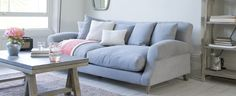 Crumpet sofa in Wolf brushed cotton