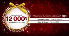12 gagnants d'une carte-cadeau de 1 000 $ Contests Canada, Try Your Best, Vegetable Drinks, Shopping Spree, Christmas Bulbs, Activities, Holiday, Gifts, Gift Cards
