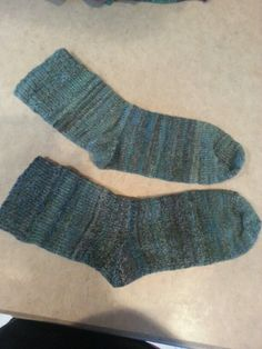 Socks with my hand spun