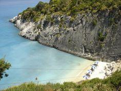 This is Ksigia Beach in Zakynthos!As always around Zante beaches, the colours are turquoise!!!