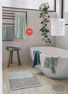Our Kas Room new bath towels 'Moko' and 'Zaba' feautured on the @Myer Emporium magazine #loveKas