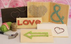 DIY Wedding Project: String & Nail Sign Tutorial