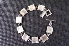 Bracelet vintage créateur métal pointus Paris France par decobrock