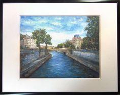 Fine Art Giclee Print France Paris Seine River Landscape Cityscape Signed Framed #Impressionism France Landscape, Italy Landscape, Vintage Landscape, Sunset Landscape, Landscape Walls, Impressionist Landscape, Impressionism, Grand Canyon Arizona, Paris France