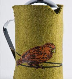 Tea Cozy, French Press Cozy - Felted Wool - Fair Trade