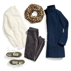 Celebrate the holidays at your athleisure. Slip into joggers & sneakers to take the season in stride. #StylistTip