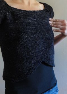 'shift of focus' in Ravelry - Really love this, especially this color. Top-down, one piece, pullover.