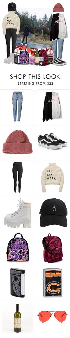 //501// by danielagreg on Polyvore featuring WithChic, CA4LA, Vans, StyleNanda, Victoria's Secret, Ann-Sofie Back, S.T. Dupont and Cotton Candy