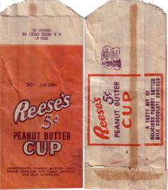 1940s Reeses Bag Candy Wrapper
