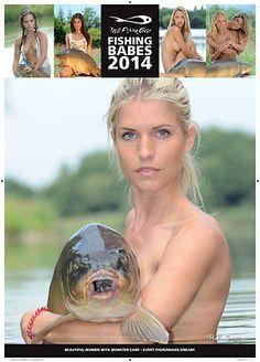 New TF Gear Total Fishing 2014 Babes Carp Fishing Wall Calendar | eBay
