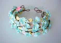 Daisy Flower Crown Flower Headband Flowergirl by SweetLittleMelody